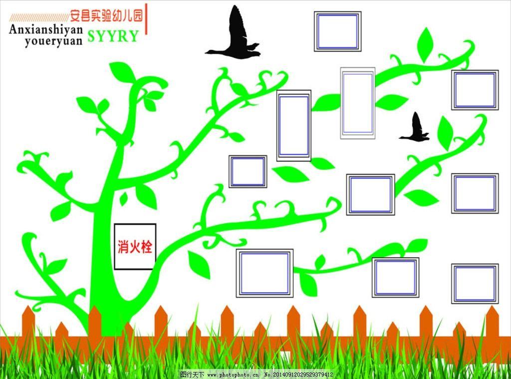幼儿园主题墙 形象墙 栅栏图片