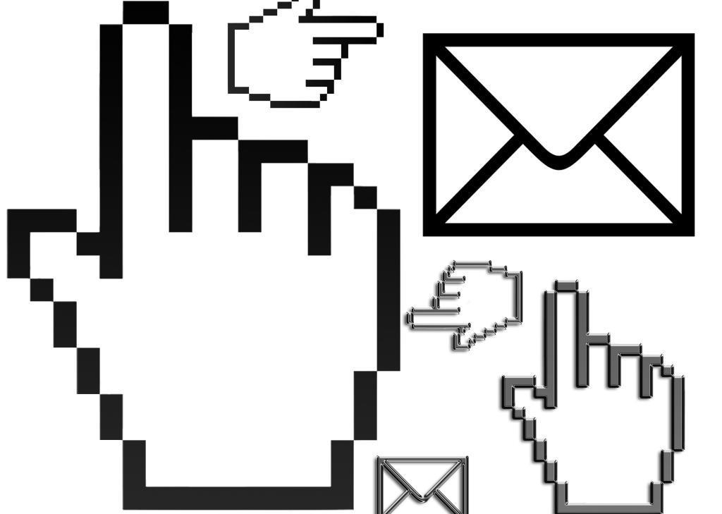 电脑图标免费下载 手指 鼠标手 信封 电脑图标免费下载 鼠标手 信封