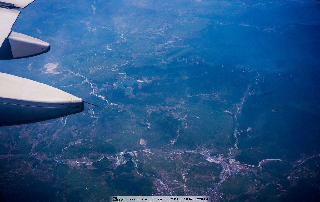 飞机上的俯瞰风景图片