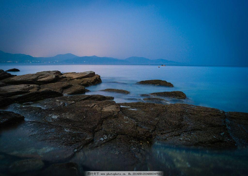 海景 礁石 沙滩 慢门 雾化 石头 大连 海岸 大连港 摄影