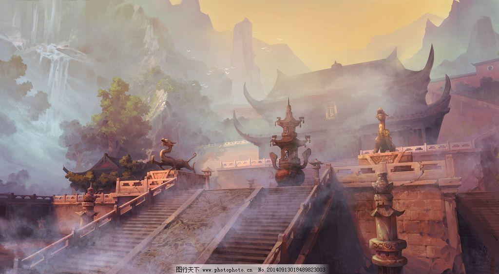 中国古风 古典 游戏 cg场景图片