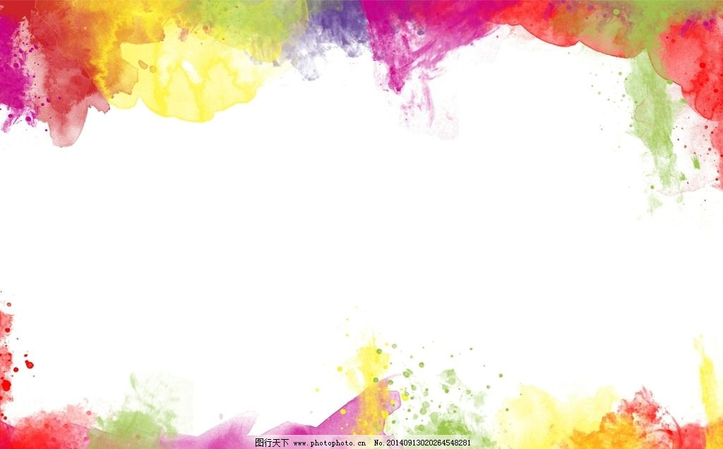 大气 手绘 彩色 设计 背景素材