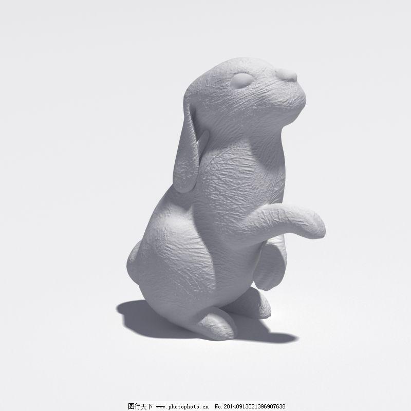 动物小兔子免费下载 雕塑 动物 模型 兔子 模型 雕塑 兔子 动物 3d