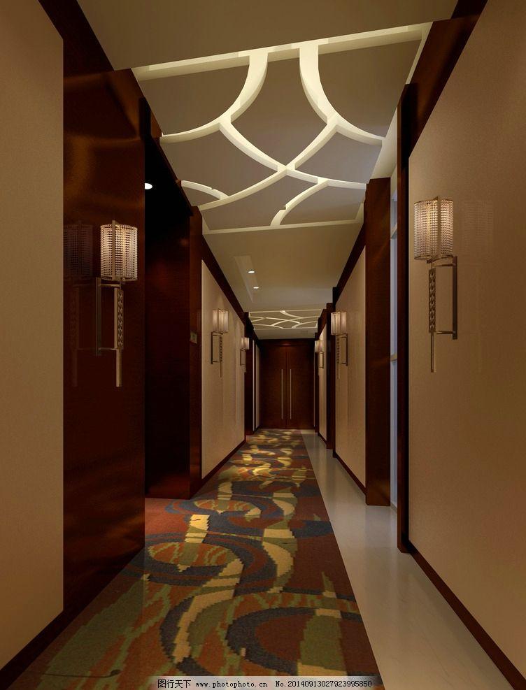 酒店走道效果图图片