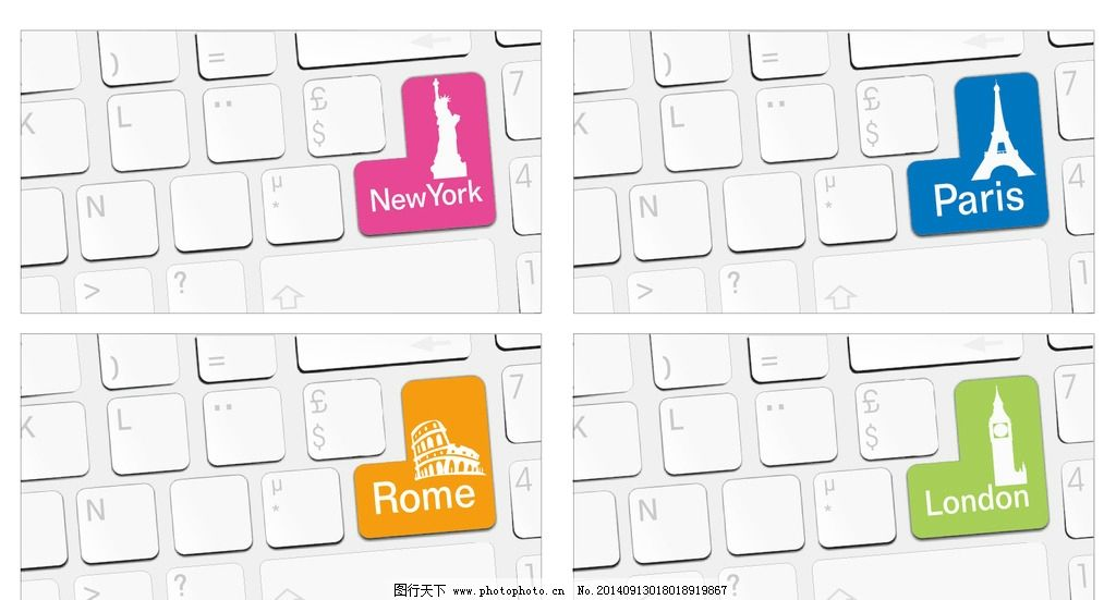 巴黎铁塔键盘图片带字