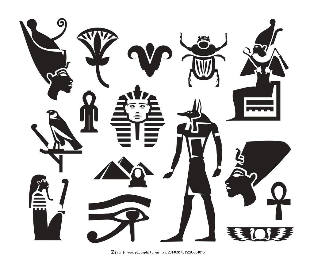手绘埃及插图图片