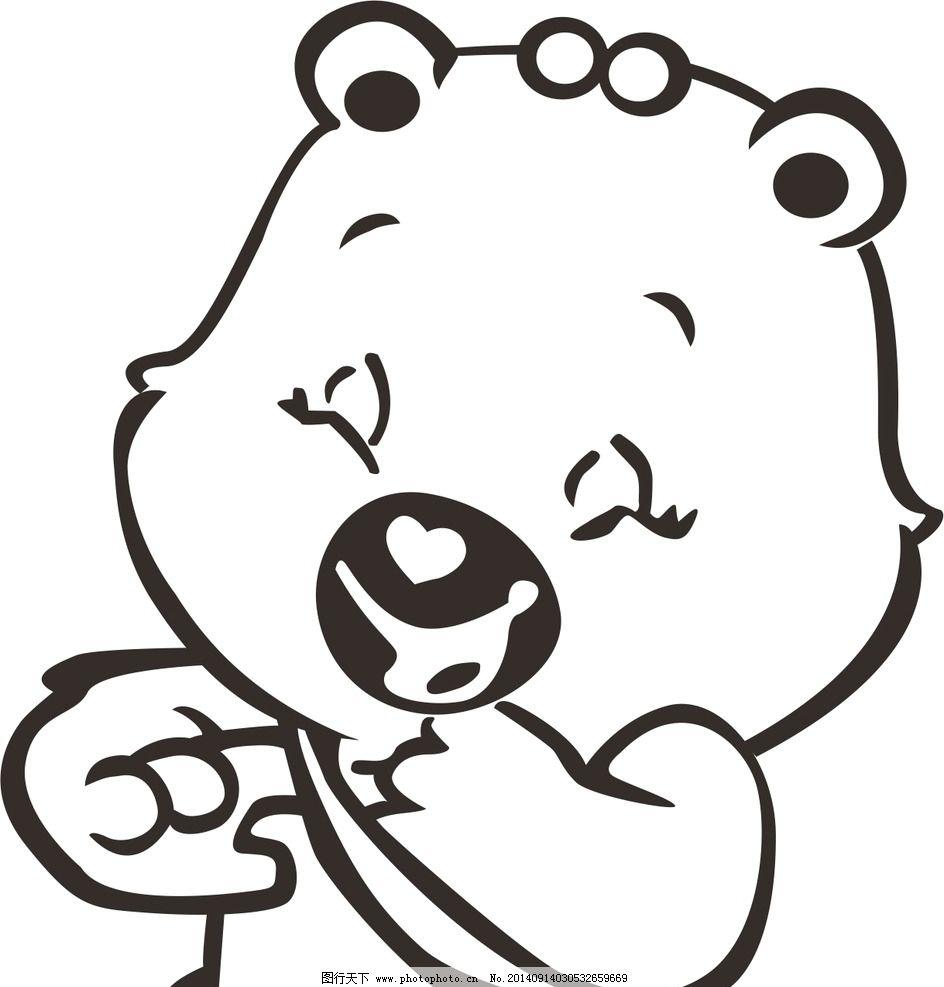 可爱卡通小熊猫简笔画