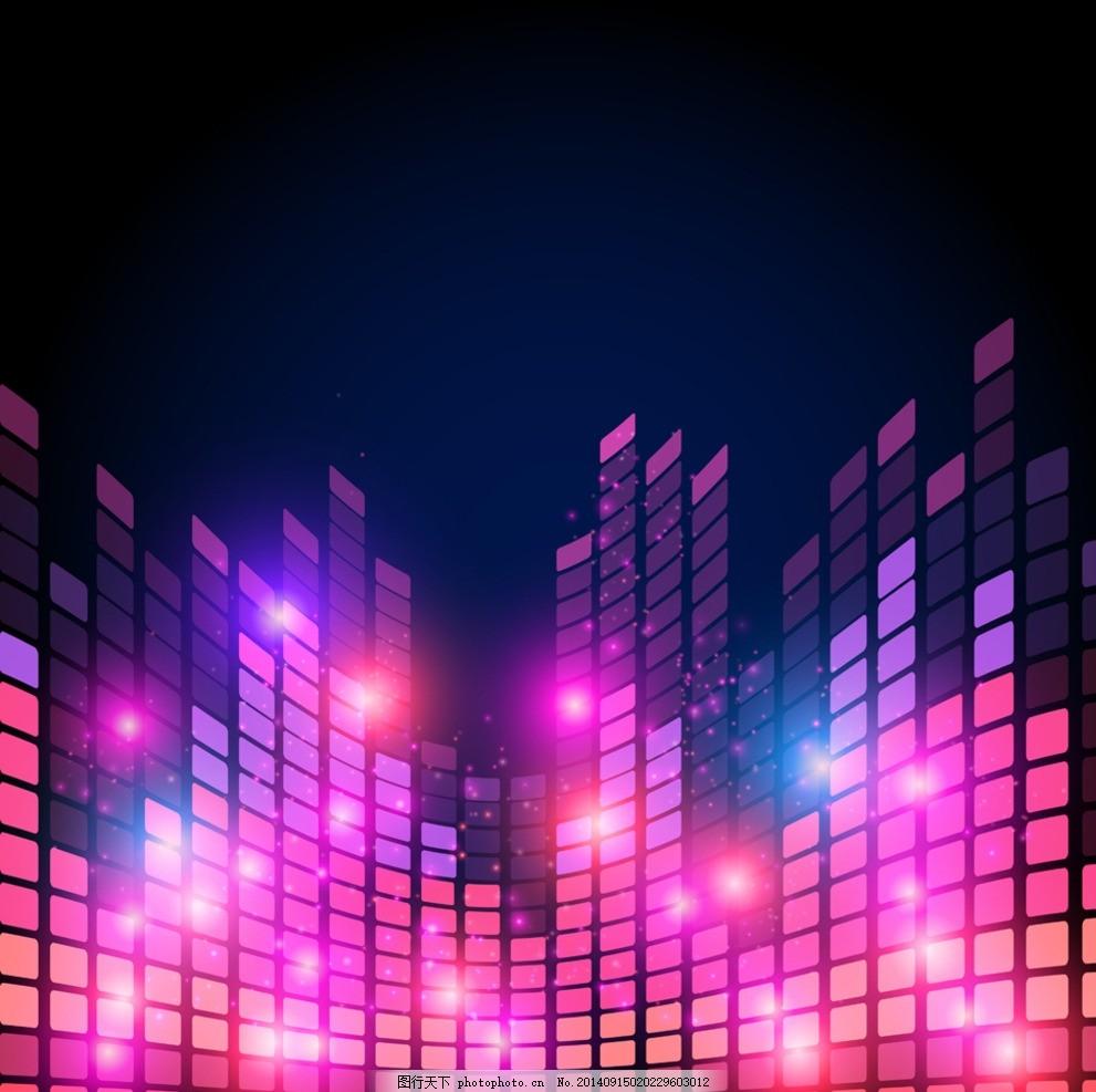 音乐会 舞台道具 音乐元素 歌舞厅 酒吧 夜总会 迪斯科 广告设计 矢量