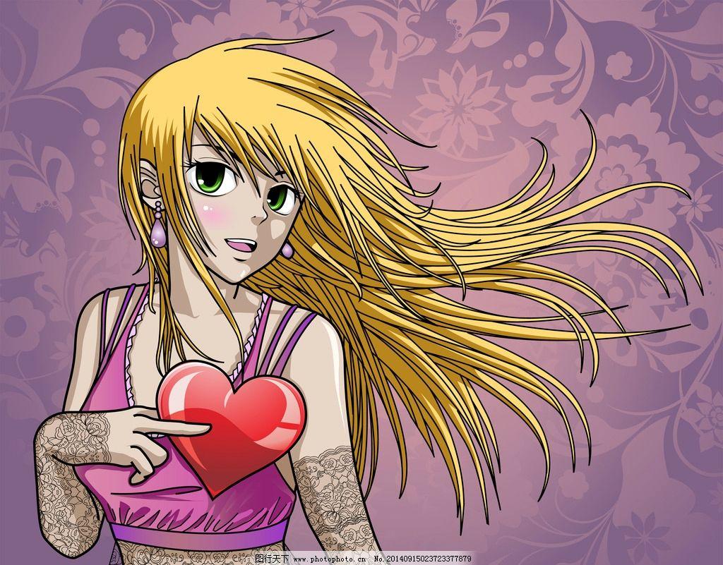 手绘美少女 动画人物 女孩 性感 日本漫画 女人 美女 时尚 卡通美女