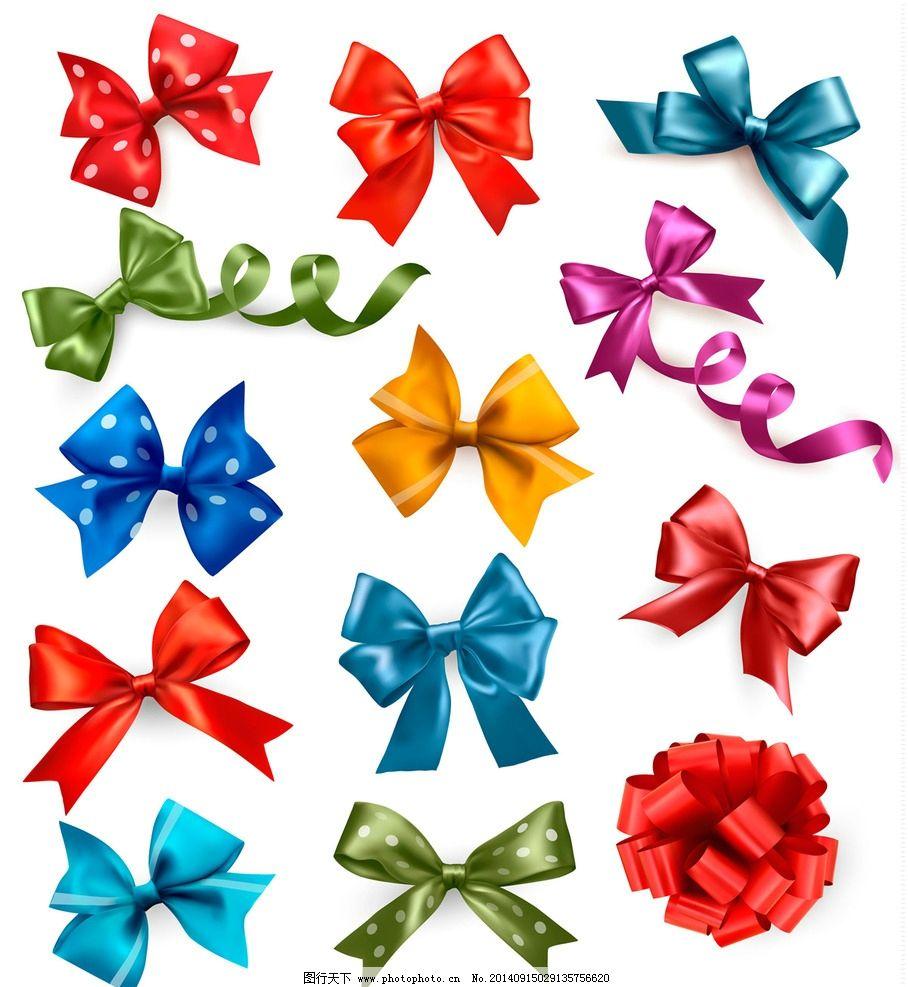 礼物包装 礼品彩带图片