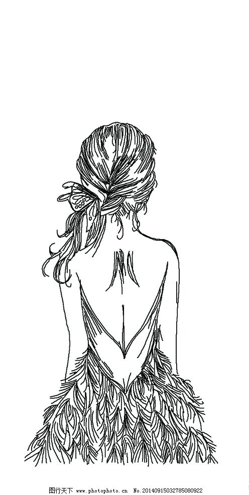 背影女孩图片