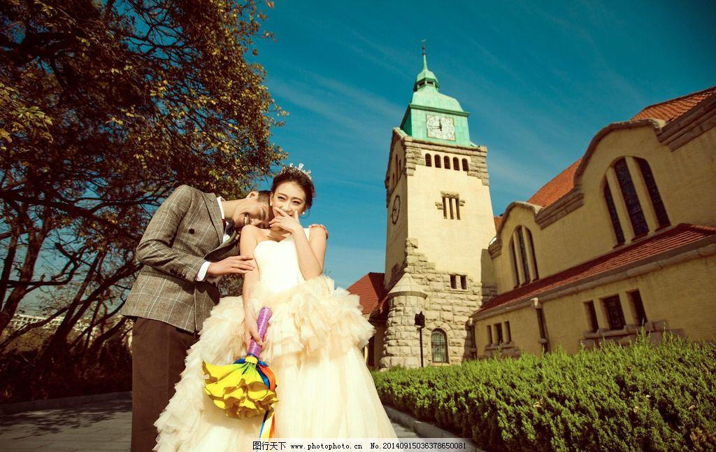 教堂 婚纱摄影 婚纱外景 英式 欧式 户外摄影 婚纱广告 海报广告