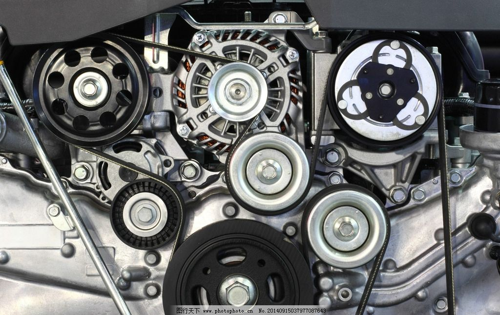 发动机 引擎 齿轮 金属 汽车发动机 手绘 机械 零件 不锈钢 汽车部件