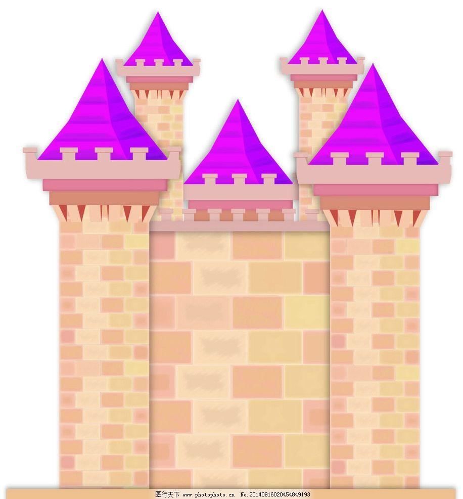 城堡 矢量图 墙 婚礼城堡 建筑 素材 纹理 边框相框 底纹边框 纹理
