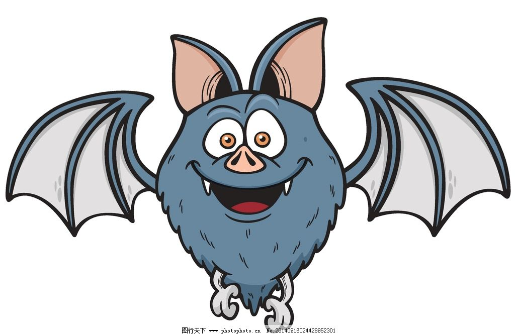 蝙蝠 卡通动物 可爱 手绘 卡通设计 矢量