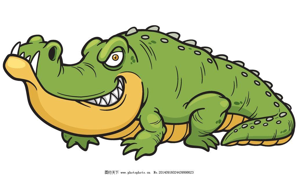 鳄鱼 卡通动物 可爱 手绘 卡通设计 矢量 eps 生物世界 野生动物 设计