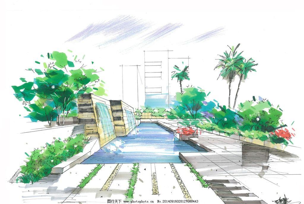建筑手绘 手绘表现 马克笔表现 马克笔手绘 川大锦城 建筑设计 景观设