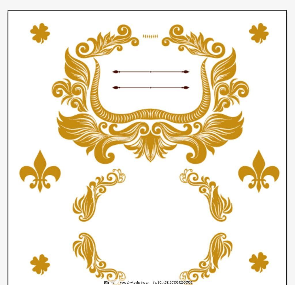欧式古典画框 田园 高端 土豪 大气 花纹 欧洲古典 华丽 哥特复古风格图片