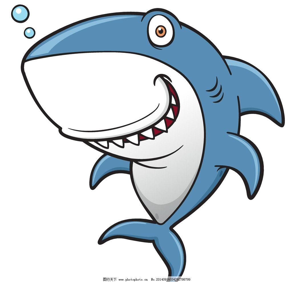 鲸鱼 卡通动物 可爱 手绘 鲨鱼 卡通设计 矢量 生物世界 野生动物