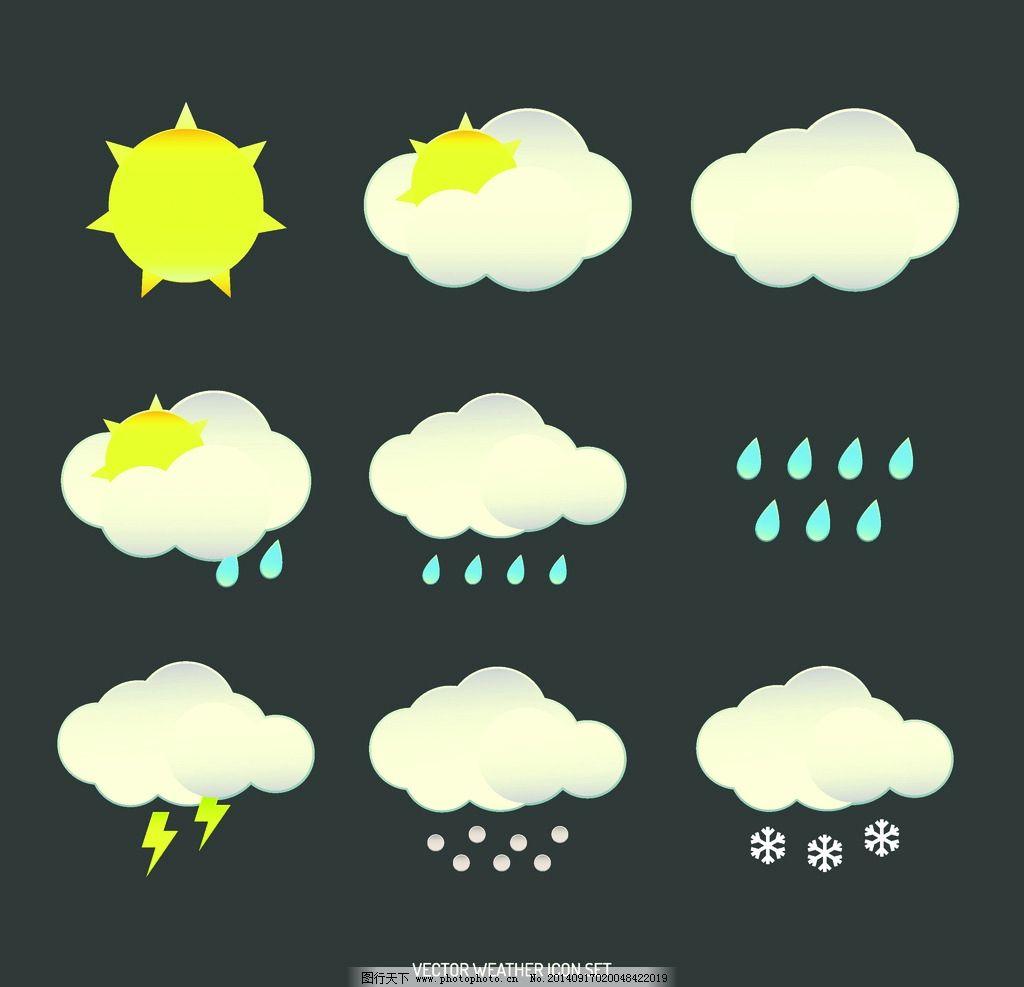 天气预报图标 天气情况 天气图标 天气状况 晴天 晴天图标 多云