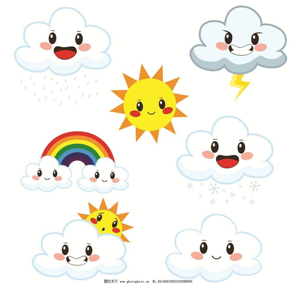 幼儿园卡通天气预报