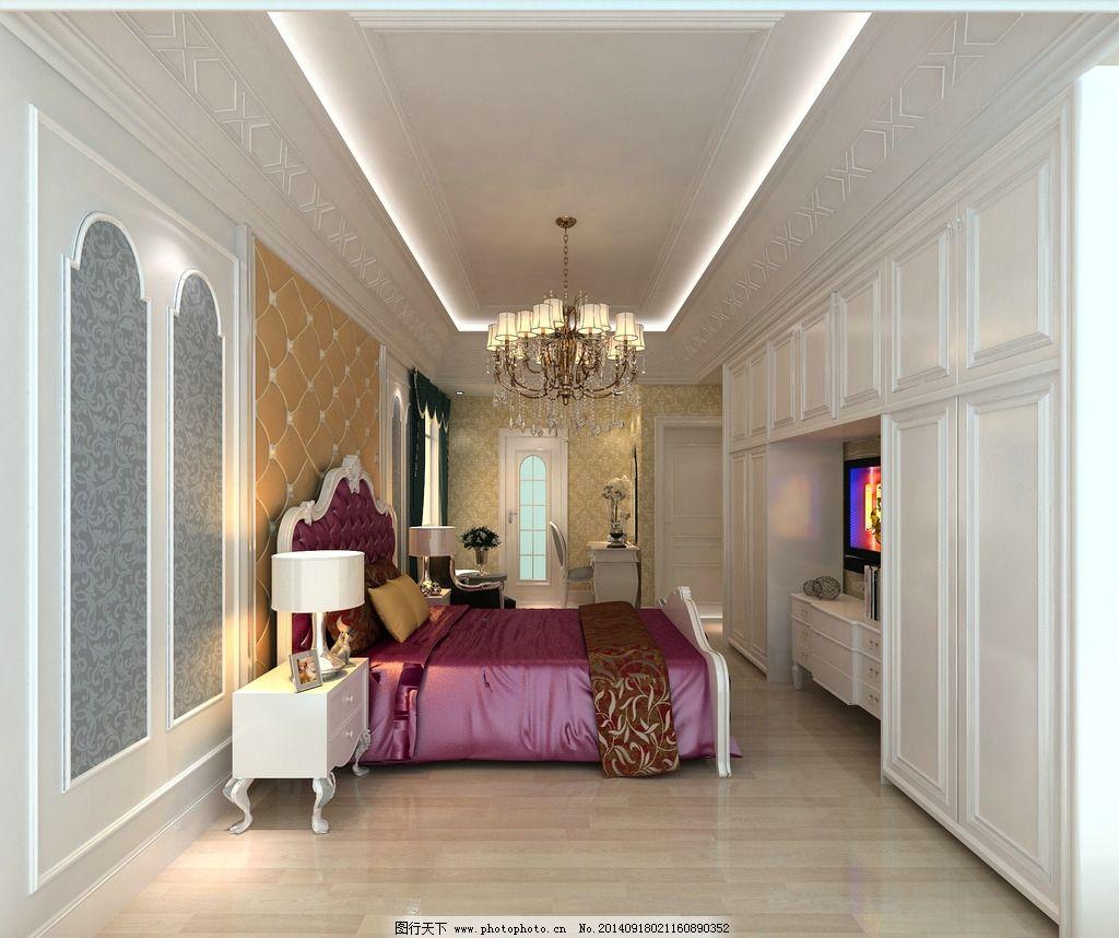 欧式 卧室 窗户 室内设计 环境设计