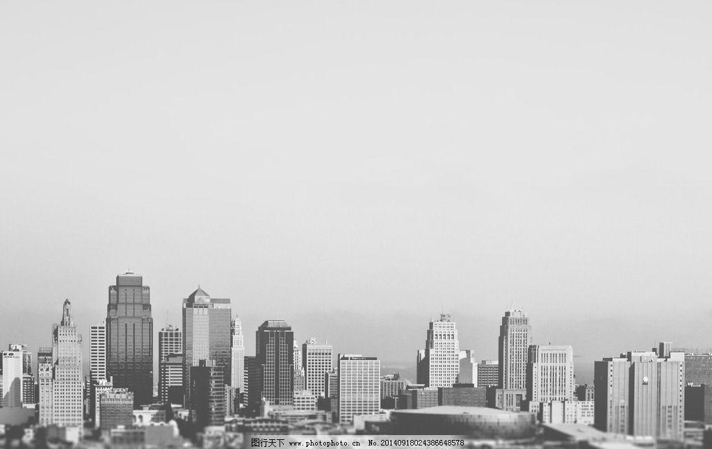 黑白城市 建筑 背景 楼房