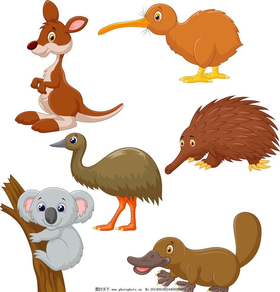 卡通动物 可爱 手绘 刺猬
