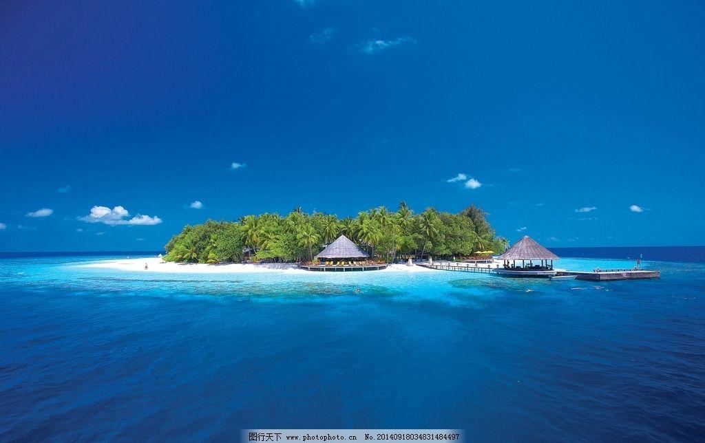 海岛 水上屋 海南岛 巴厘岛 马尔代夫 沙滩 海洋 海水 椰林 度假 旅游