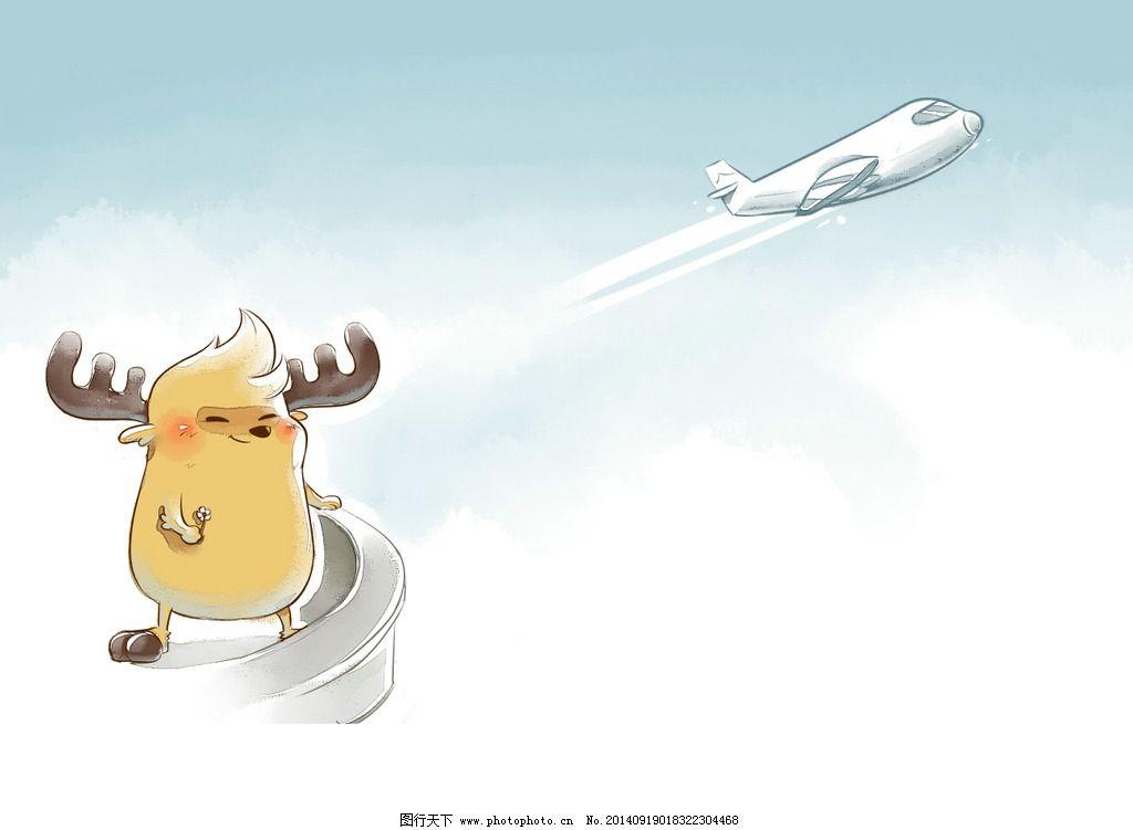 鹿小漫绘创意飞机图片