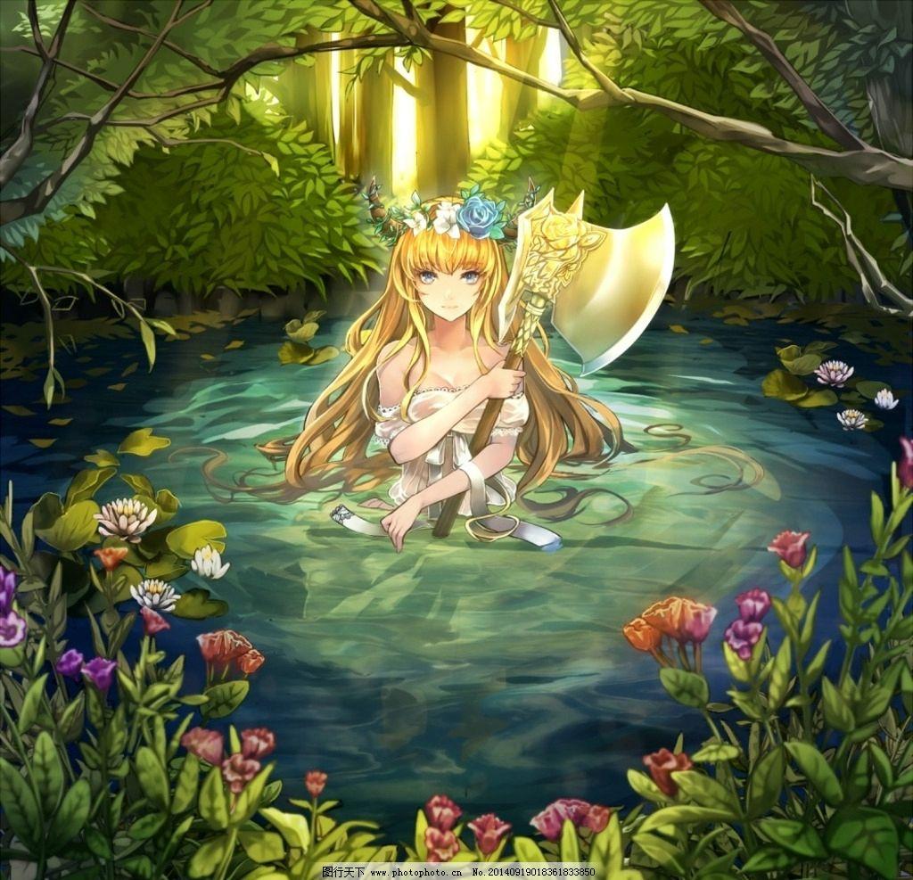 动漫 人物 美少女 唯美 长发美女 可爱 梦幻 设计 动漫动画 动漫人物
