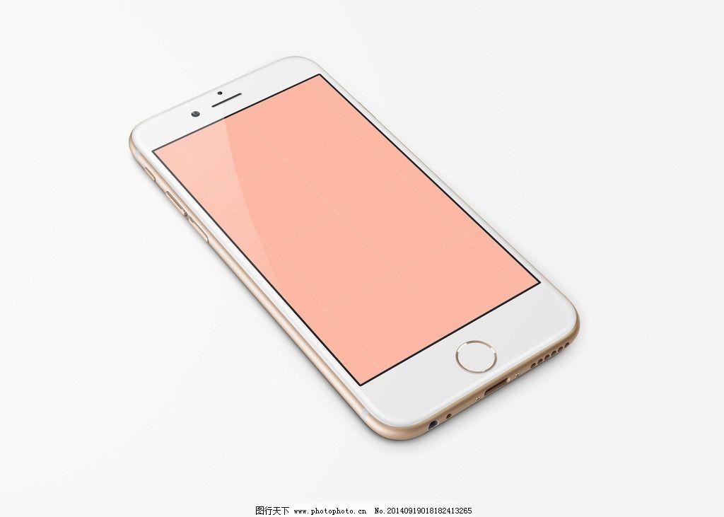 金色iphone6斜面模板图片