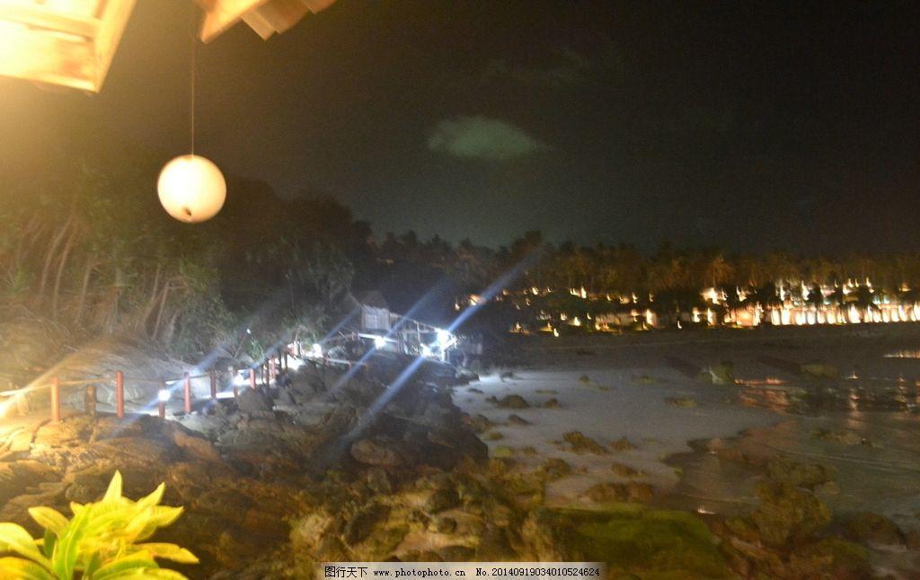 海边 夜景 海边夜景 皇帝岛 浪花 普吉 旅游 餐厅 海边餐厅 温馨 浪漫