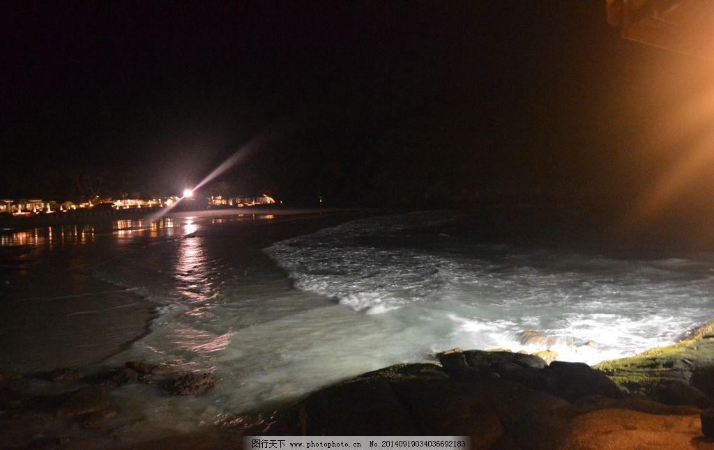 海边 夜景 海边夜景 皇帝岛 浪花 普吉 旅游 餐厅 海边餐厅 温馨 浪