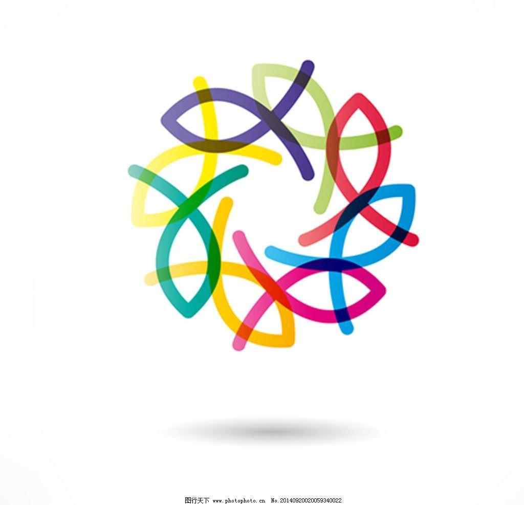 鱼图标 动物 鱼图形 手绘 创意鱼图案 矢量素材 广告设计 标志图标