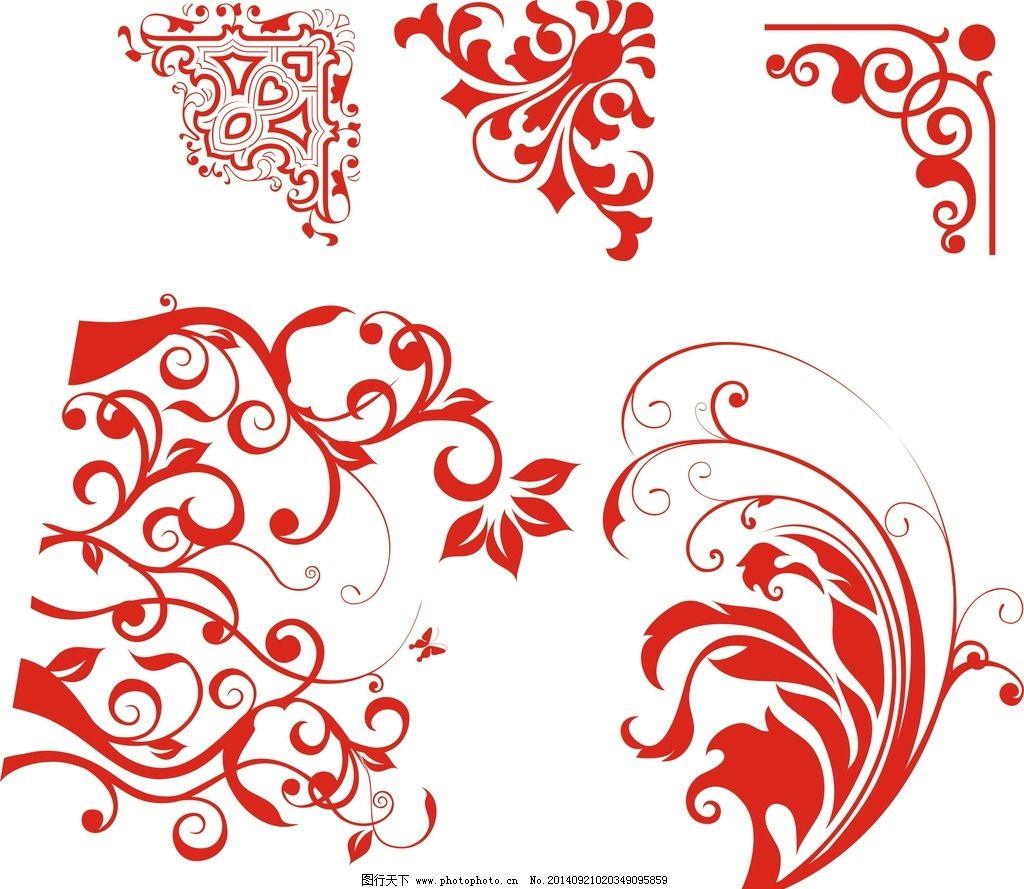 底纹边框 黑白花纹 精美花纹 喜庆花纹 欧式花纹 时尚花纹 矢量花纹