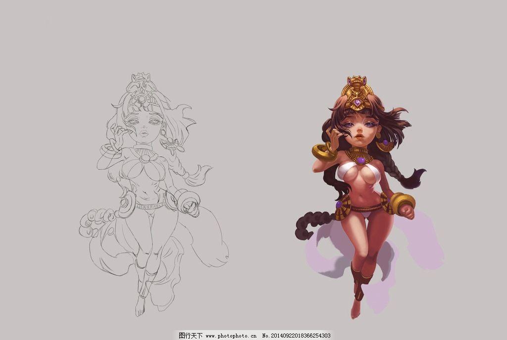 动漫人物 手绘 游戏人物 游戏女孩 女角色 设计 动漫动画 动漫人物