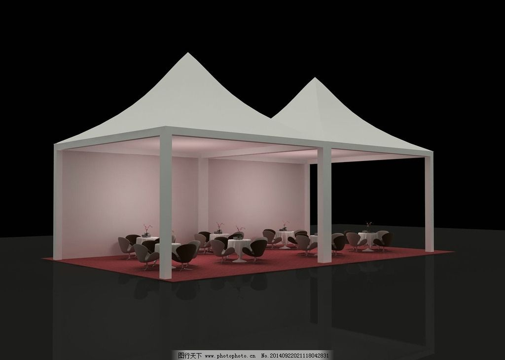 篷房 桌椅 冷餐区 欧式篷房 大气 美观图片