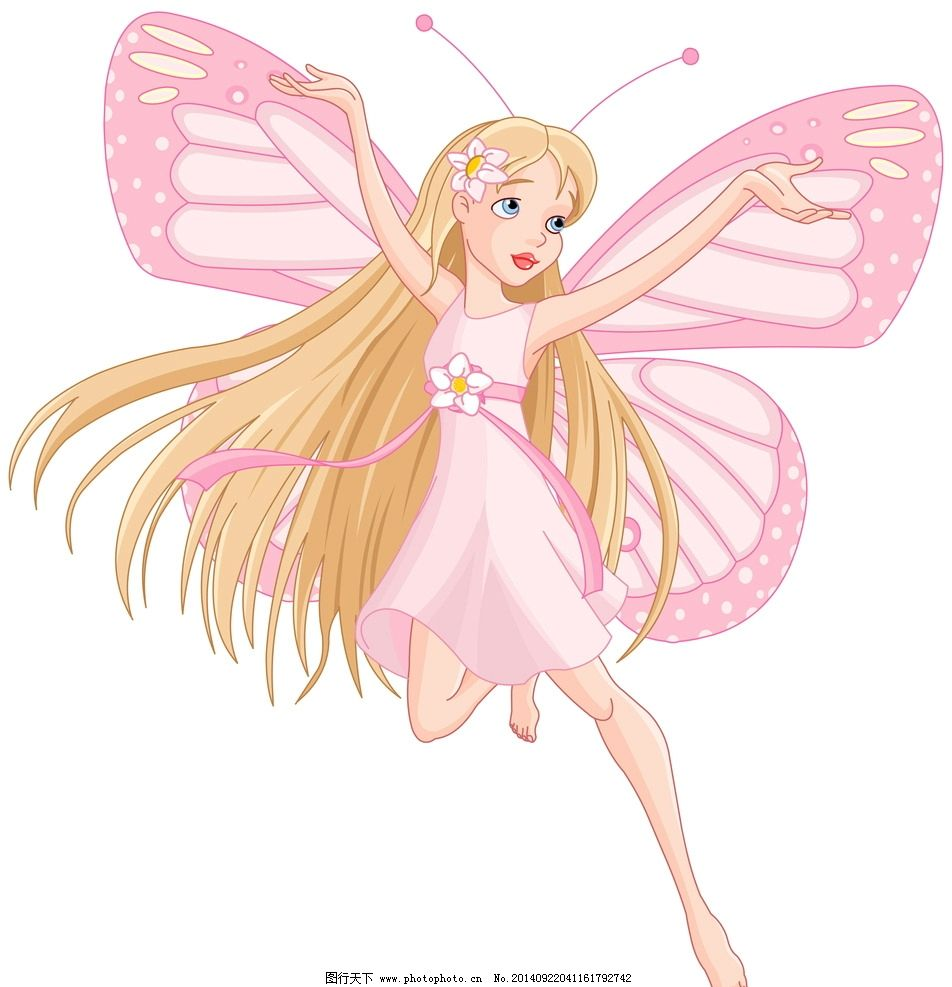 粉色 公主天使图片