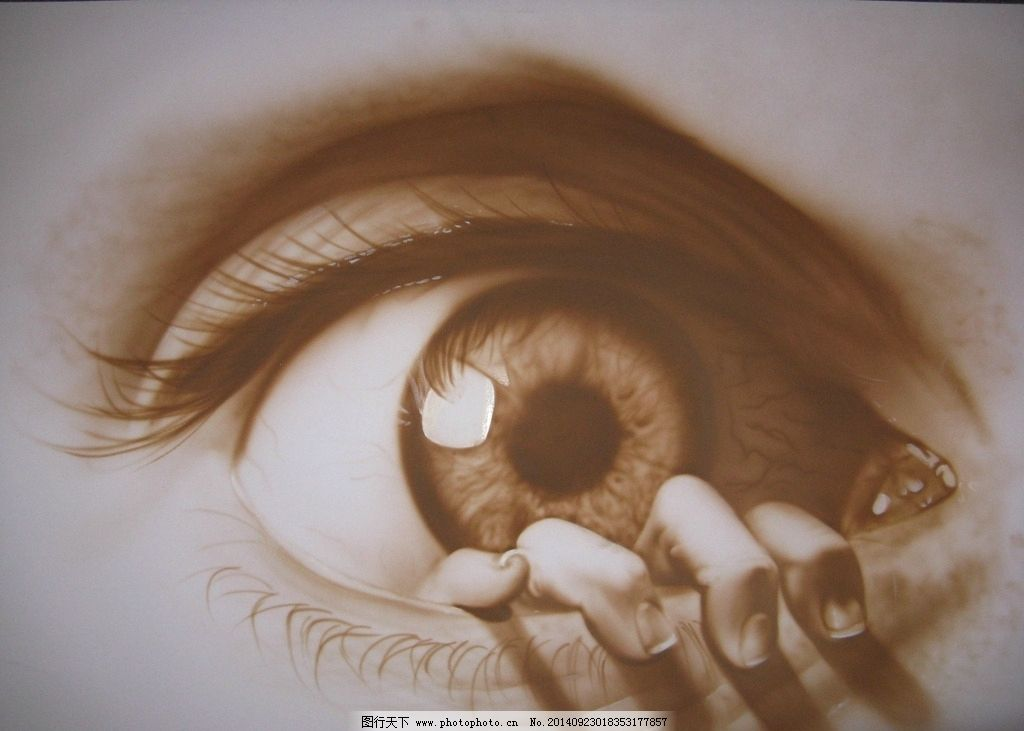手绘眼睛图片