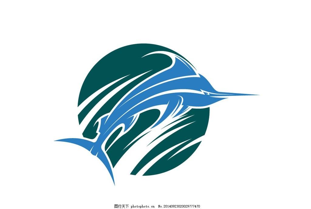 鱼图标 动物 鱼图形 手绘 创意鱼图案 矢量素材 广告设计