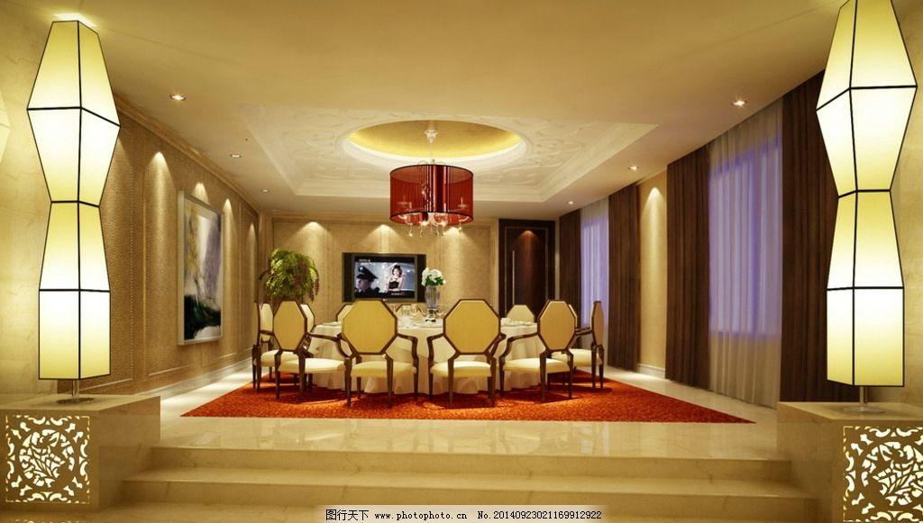 宴席 酒店包厢图片_3d作品设计_3d设计_图行天下图库