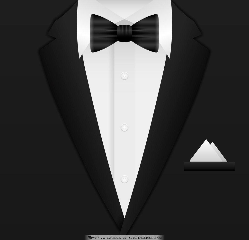 衬衫 领结 手绘