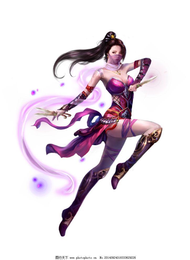 游戏原画 游戏人物 游戏人设 游戏角色 美女 刺客 面纱 仙侠 中国风