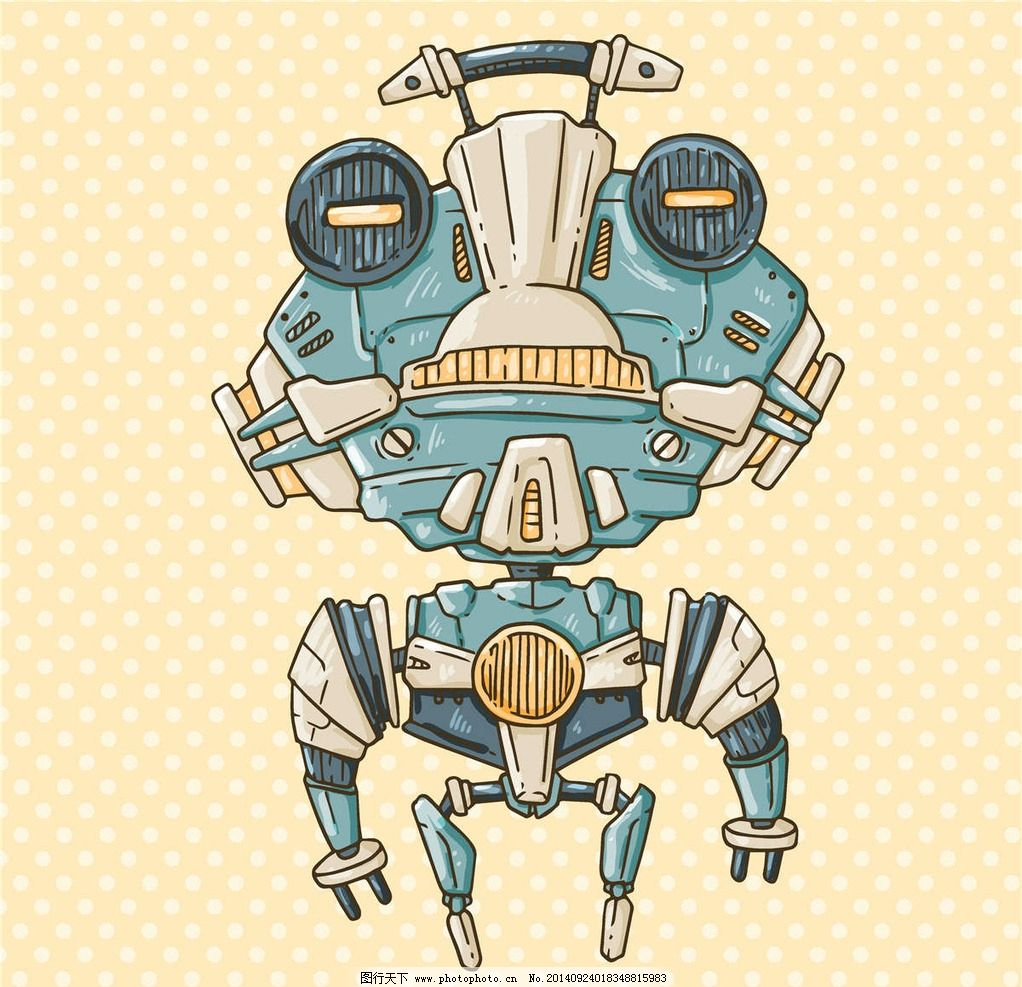 机器人卡通 卡通机器人简笔画
