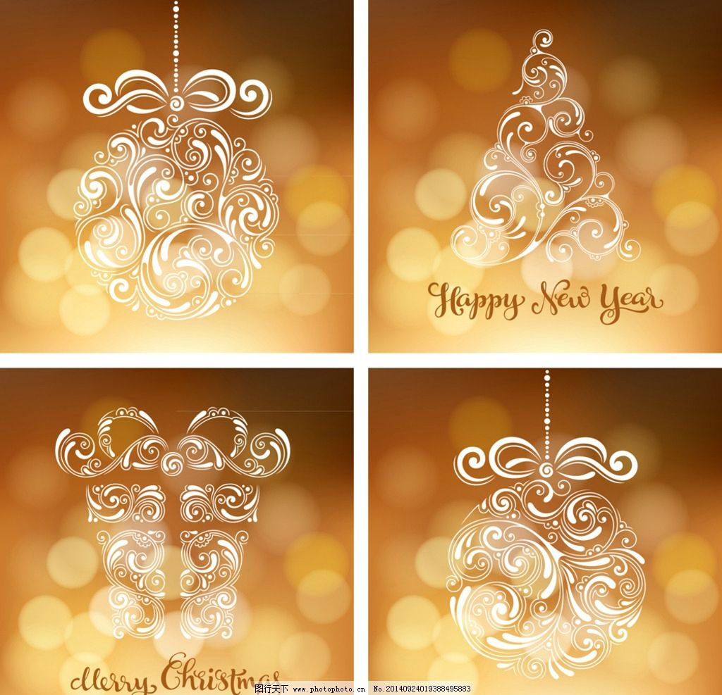 圣诞节 圣诞 圣诞背景 雪花 花纹 花边 欧式花纹 装饰花纹 梦幻光斑