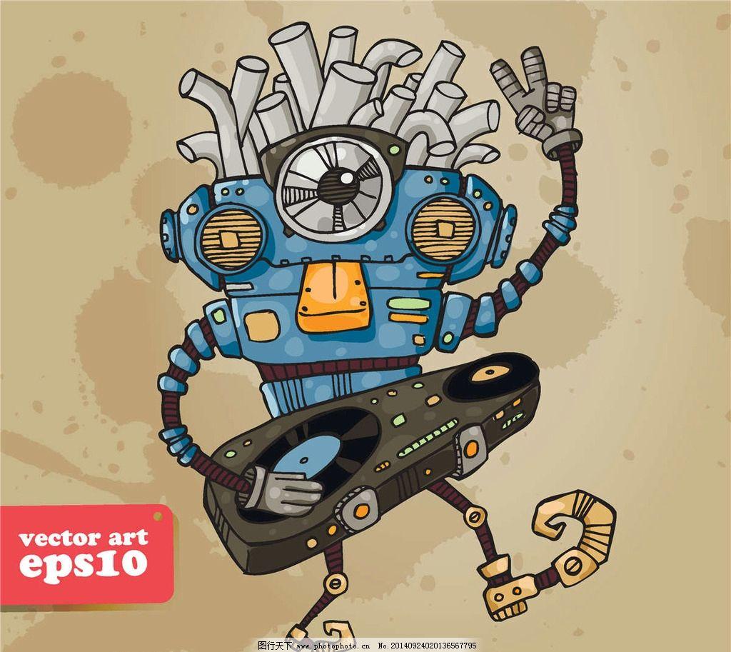 卡通机器人简笔画 机器人简笔画