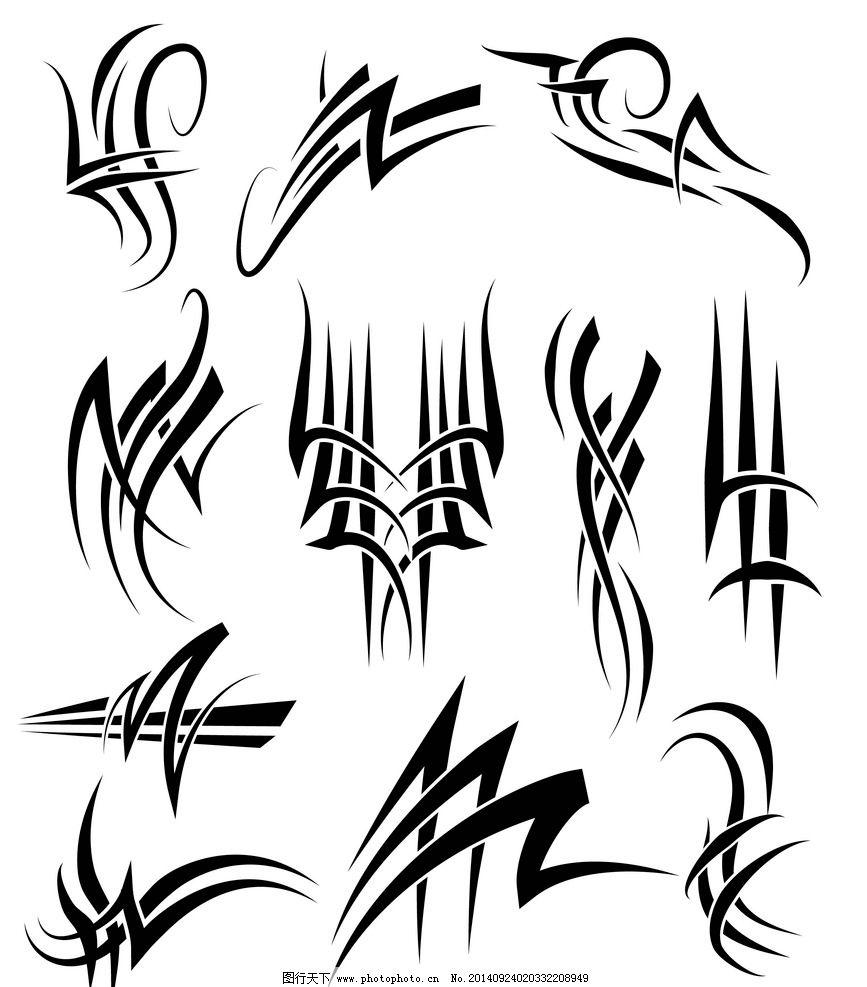 设计图库 底纹边框 花边花纹  纹身 纹身图案 手绘 吉祥 图腾 线条