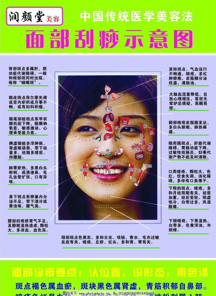 面部刮痧示意图图片_设计案例