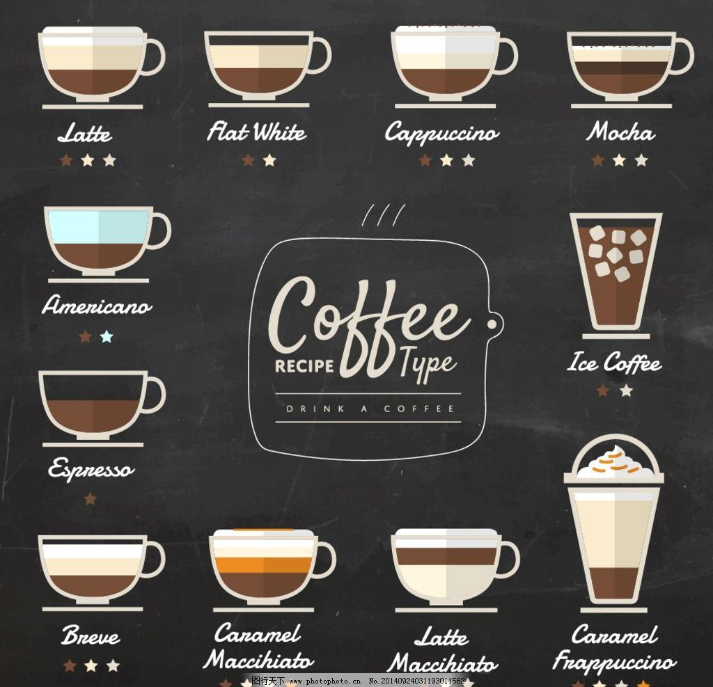 咖啡 咖啡杯 咖啡豆 手绘